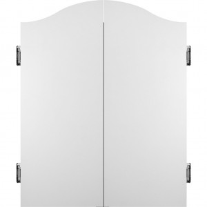 Mission Dartboard Cabinet Deluxe Plain White