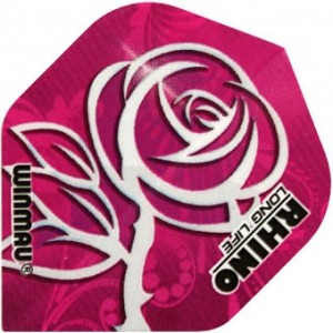 Rhino Silver Rose Dart Flights