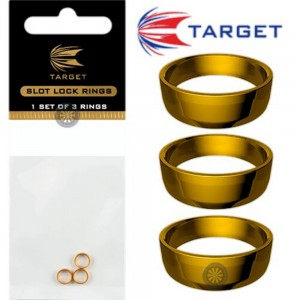 Target Slot Lock Grip Rings Gold