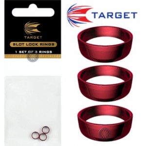 Target Slot Lock Grip Rings Red