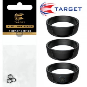 Target Slot Lock Grip Rings Black