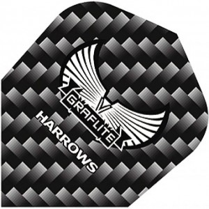 Harrows Graflite Standaard Flights Zwart
