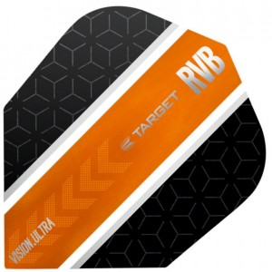 Raymond van Barneveld Ultra Vision Black and Orange Stripe Dart Flights