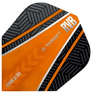 Raymond van Barneveld Ultra Vision Black and Orange Curve Dart Flights