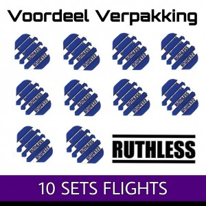 10 Sets Ruthless Clear Panels Blauw