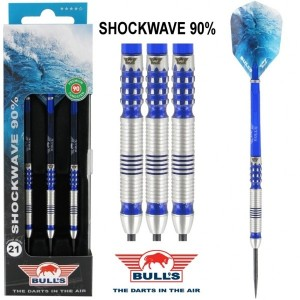 Bull's Shockwave 90% Dartpijlen 21-23-25 Gram