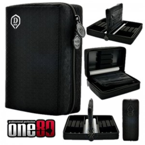 One80 Dubbel D-Box Zwart (2 sets darts)