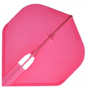 L Style Champagne Dart Flights Standard Hot Pink