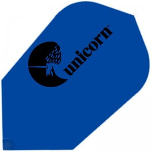Unicorn Maestro Dart Flights - 100 Micron - Slim - Logo BLUE