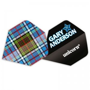 Unicorn Authentic Gary Anderson Tartan Flights