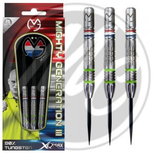 XQMAX Michael van Gerwen Mighty Generation 3 90% Dartpijlen 21-23-25 Gram