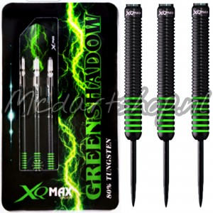 XQMax Green Shadow Darts Steel Tip Tungsten 7 Ring Green 21g  23gr 25gr