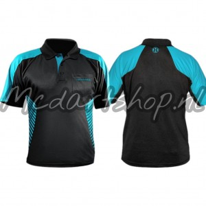 Harrows Vivid Dartshirt Aqua Blauw