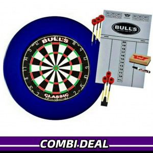 Bull's Lite Surround Dardbord Set Blauw