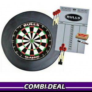 Bull's Lite Surround Dartbord Set Zwart