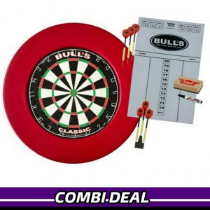 Bull's Lite Surround Dartbord Set Rood