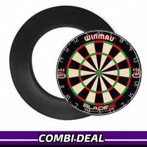 Winmau Blade 5 + Surround Ring Zwart
