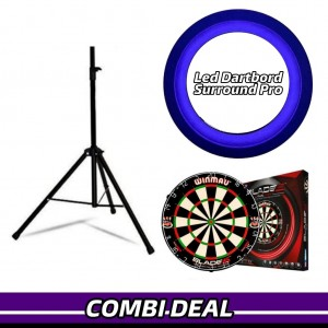 Complete Dart Caddy Inclusief Dartbord + Led Verlichting