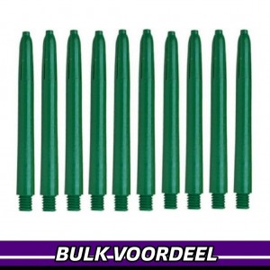 10 Sets Nylon Shafts Donkergroen Medium