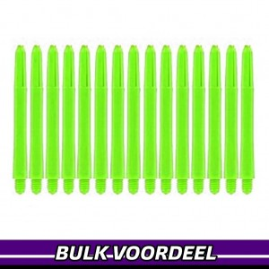 10 Sets Nylon Shafts Fluor Geel Medium