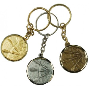 Key Ring Gold Silver Bronze