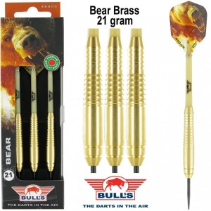 Bull's Bear Brass Dartpijlen 21 Gram