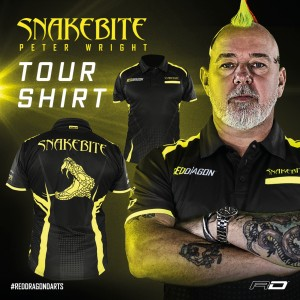 Peter Wright Dartshirt Snakebite Zwart
