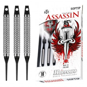 Harrows Assassin Knurled Soft tip Dartpijlen 17 Gram