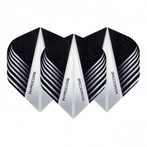 Hardcore Black and Clear V Dart Flights