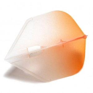 L Style Two Tone Flights L3 Clear Orange