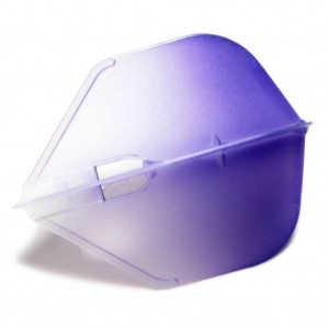 L Style Two Tone Flights L3 Clear Purple