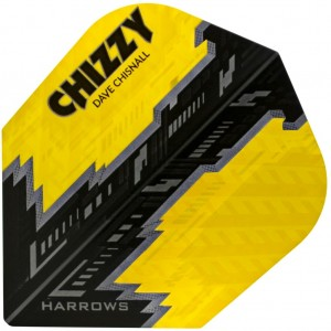 Harrows Dave Chisnall Flights NO6 Geel Zwart