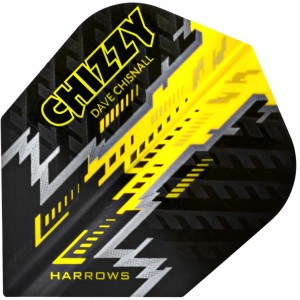 Harrows Dave Chisnall Flights NO6 Zwart Geel
