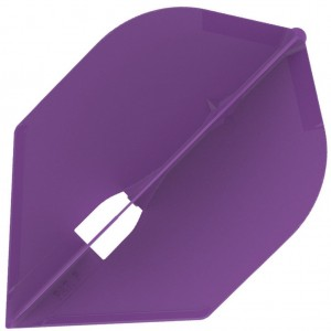 L Style Champagne Dart Flights Rocket Purple