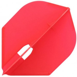 L Style Champagne Dart Flights Rocket Red