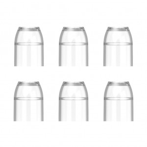 L Style Champagne Rings Caps Clear (6 Stuks)