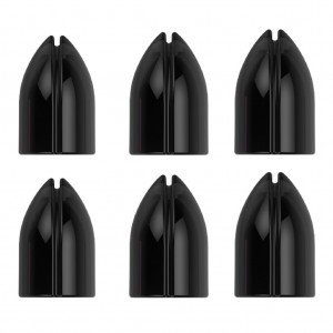 L Style Shell Lock Rings Clear Black