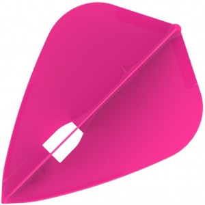 L Style Champagne Dart Flights Kite Hot Pink