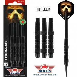 Bull's Thriller Black Brass Softtip Darts 18 Gram