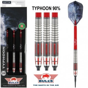 Bull's Typhoon 90% Softtip Darts 20 Gram