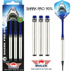Bull's Shark Pro 90% Softtip Darts 18-20 Gram