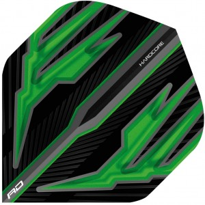 Hardcore Black & Green Dart Flights