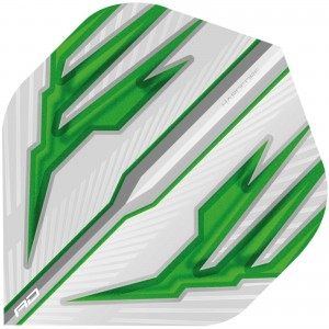 Hardcore White & Green Dart Flights