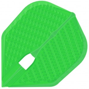 L Style Champagne Dart Flights Shape Dimple Green